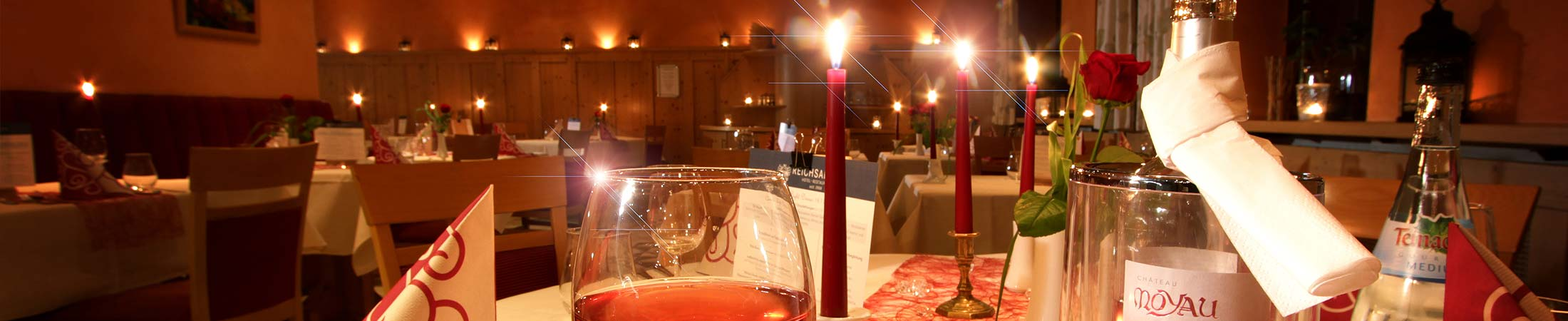 Hotel & Restaurant Reichsadler in Buchen - Candle Light Dinner